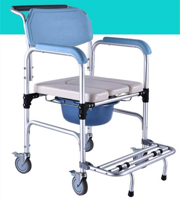 US 3 in 1 Commode Wheelchair Bedside Toilet & Shower Seat Ba