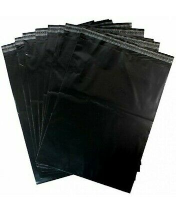 200 BLACK POLY MAILING POSTAGE POSTAL PLASTIC BAGS PACKAGING 12X16 305MMX406MM