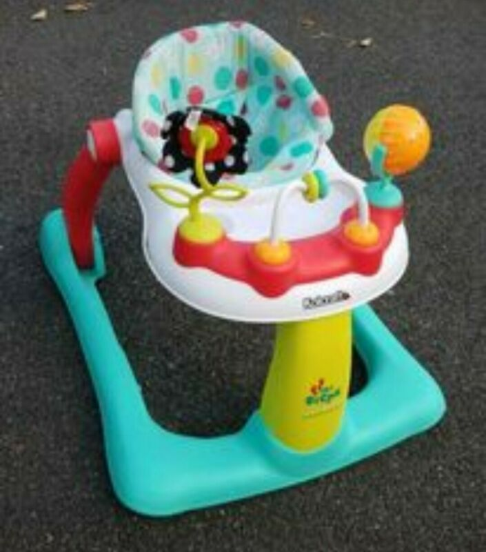 Kolcraft Tiny Steps 2-in-1 Infant & Baby Activity Walker - Seated or Walk-Behind