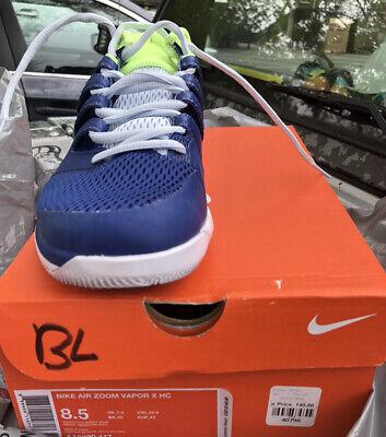 Nike Air Zoom Vapor X, 8.5 Blue Tennis Sneakers, No Returns PleaseKnowYourSize