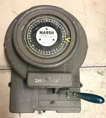 Marsh Stencil Machine Company Model R1 Letter Number Rotary Punch Cutter 1 Inch