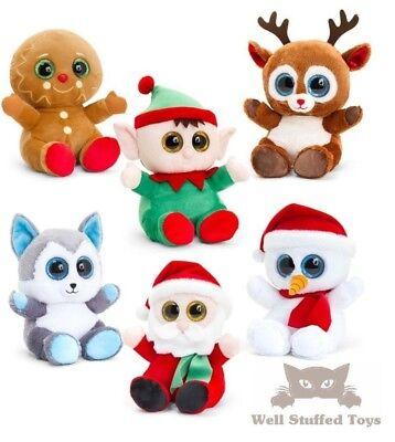Christmas Plush Santa Gingerbread Snowman Husky Rudolph Elf Animotsu Soft Toy