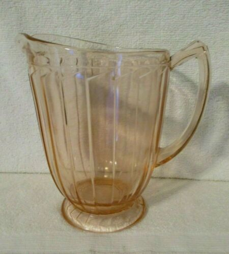 "Vintage Sierra ""Pinwheel"" Pink Pitcher Jeanette Glass EXCELLENT"