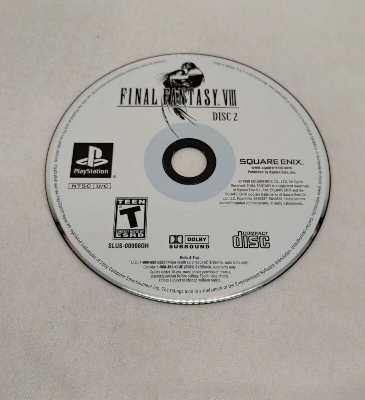 Final Fantasy VIII 8 DISC 2 ONLY ! - PS1 Game Disc Tested Clean Square Enix