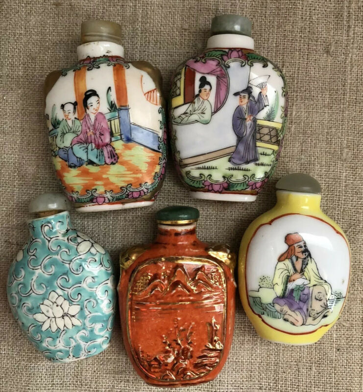Estate Found Antique Rare Chinese Collectible Snuff Bottles Guangxu Nian Zao 19c