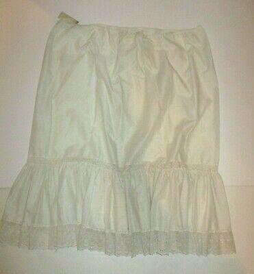 "Ladies Ex Brand Full Dress Slip White Black Nude 10-24 Length 26-30/"" petticoat"