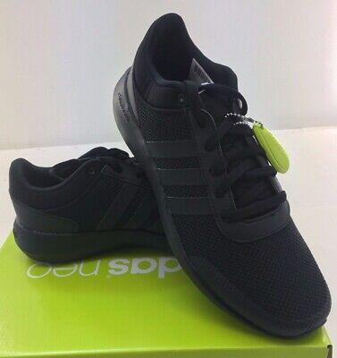 Mens Adidas NEO Cloudfoam Race Black Sneaker Athletic Sport Shoes B74372 7-14 ()