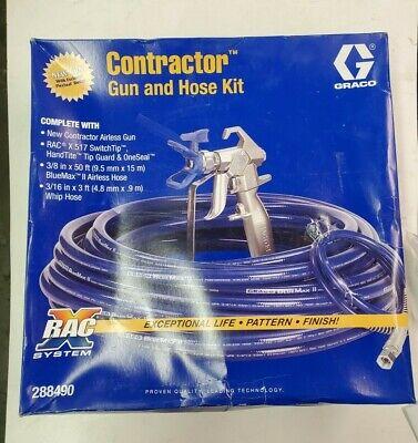 New Graco Contractor Pc Gun Hose Kit Rac X 517 Switchtip 38 X 50 Bluemax Ii