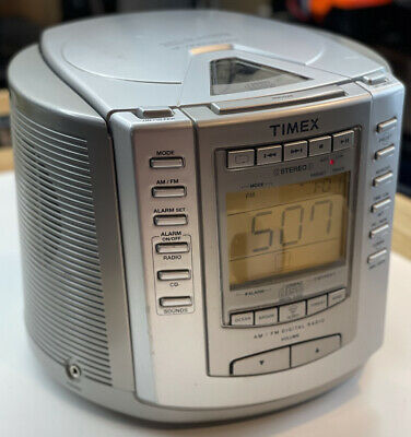 Timex T601S AM/FM Radio CD Player with Alarm Clock Snooze & Nature Sounds Sleep