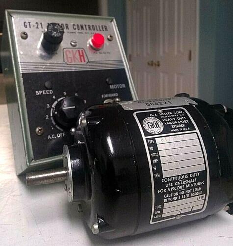 GKH Heller GT-21 Lab Stirrer Blades Motor 0-6000RPM 18:1 Ratio & 115V Controller