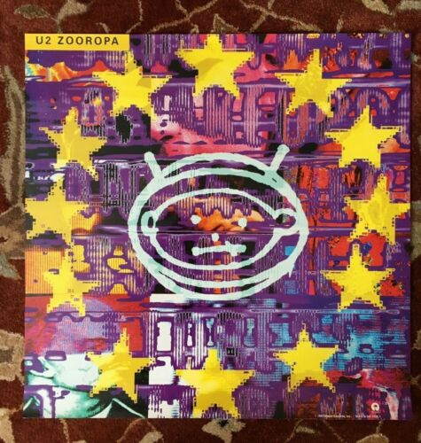 U2  Zooropa  rare promotional poster from 1993