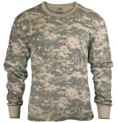 Long Sleeve T-shirt ACU Digital Army Camouflage Shirt Military Rothco 6385 Acu Digital Camouflage T-shirt