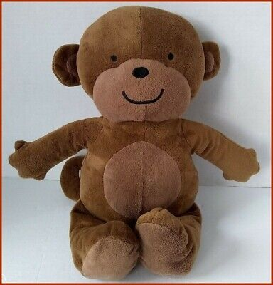 Brown Baby Monkey Velour Chamois Plush Soft Toy Lovey 14 in.
