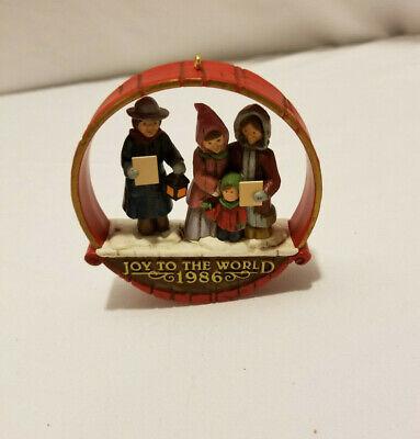 1986 Hallmark Ornament Joyful Carolers Joy To The World Christmas Medley -