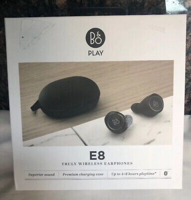 Bang & Olufsen E8 Black Wireless Earbuds Qi Wireless Charging
