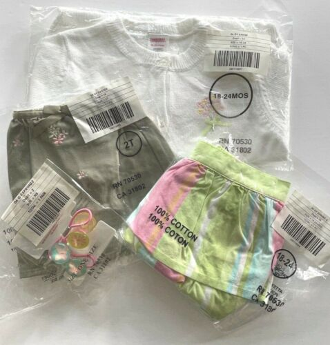 4 PC GYMBOREE GIRLS SIZE 18-24/ 2T PALM SPRINGS GARDEN BLOOM SKIRTS LOT NWT