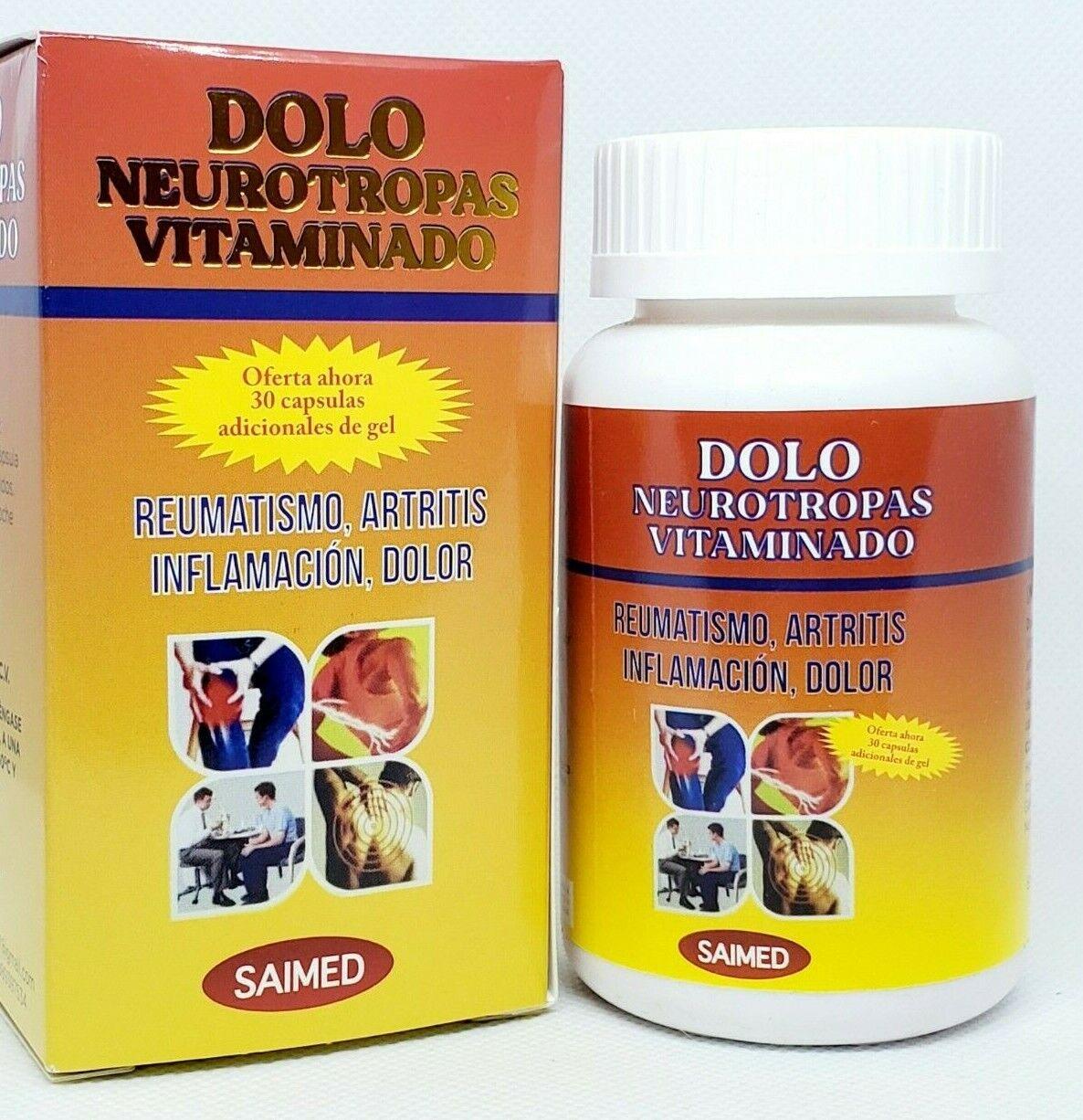 Dolo Neurotropas Vitaminado Complejo B Joint Pain 30 Softgels 06/2026 Complex B