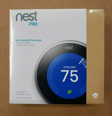 Google Nest 3rd Gen Programmable Thermostat Stainless Steel PRO T3008US