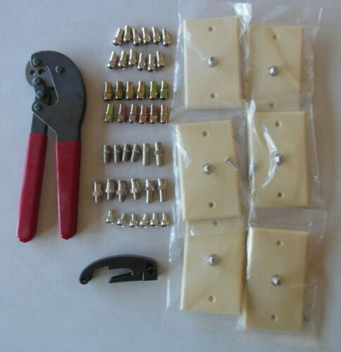 Coax RG 59/6 Connector Termination Kit with Cable Crimper