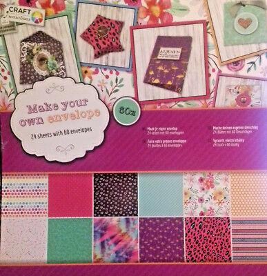 CRAFT Stanzblock, 30,5 x 30,5cm, 24Bögen für 60 Umschläge und Geschenkboxen  ()