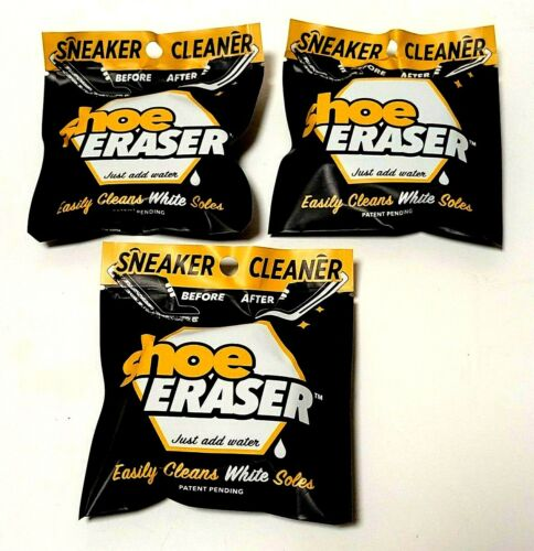 SHOE ERASER White Sole Sneaker Cleaner Lot of 3 New In Package
