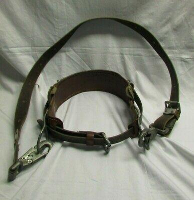 Wm Bashlin Co. Linemans Pole Climbing Belt No.1511n Size D24. With Safty Strap