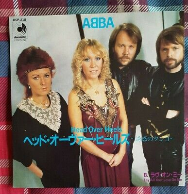 "ABBA - 'Head Over Heels' Japan 7"" & PictureLyric Insert"