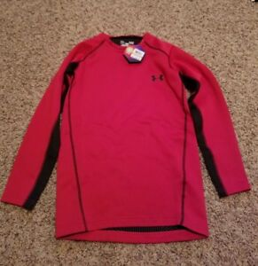 Under Armour mens Cold Gear Red Infrared thermo crew Shirt size SMALL MSRP$69.99