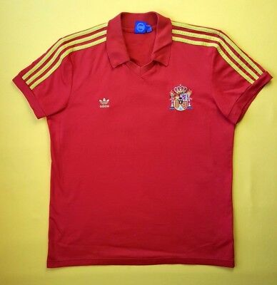 bf691a99c 4.8 5 Spain soccer jersey XL 1982 1984 vintage retro replica F77298 Adidas  ig93