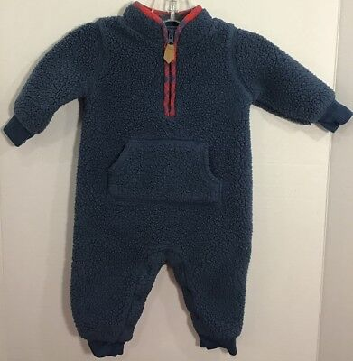 Baby Boys  Carter's 3 Months Blue Sherpa Fleece Bunting Outfit](Baby Bunting Outfits)