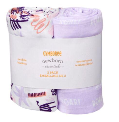 NWT GYMBOREE $35 Newborn Essentials Farm Muslin 2 pack Swadd