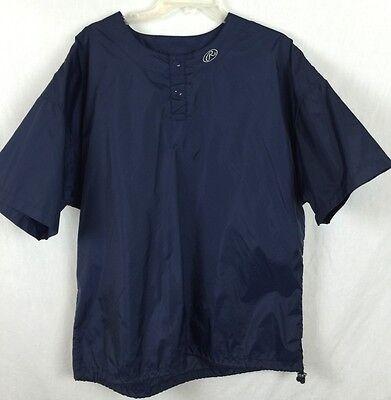 Rawlings M Blue Baseball Water Repellent Vented Pullover Warmup Rain Jacket p