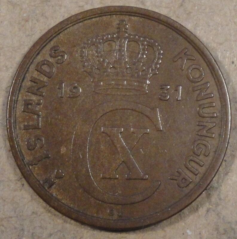 Iceland 1931 5 Aurar XF/AU