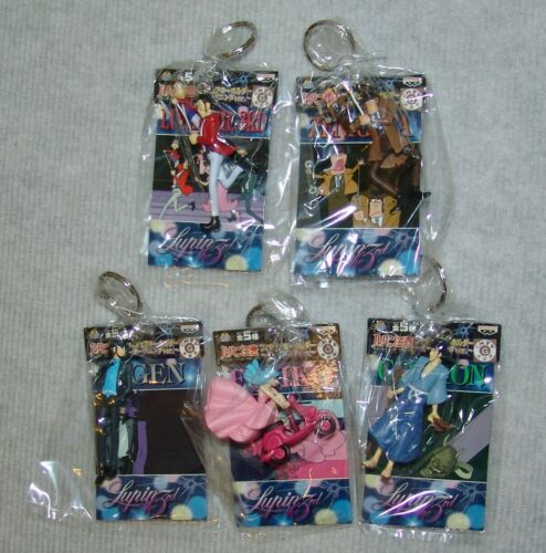 NEW Complete 5pc set Lupin the Third 3rd Keychain set  USA SELLER