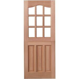 Exterior doors ebay for Wooden exterior back doors
