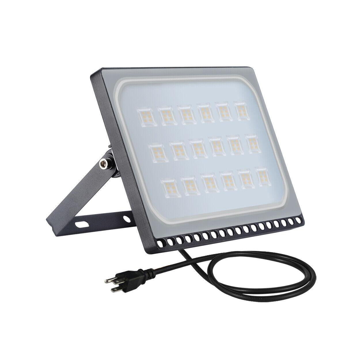 Energy Efficient Flood Lights Indoor: 5X 100 Watt Slim LED Flood Lights Warm White Indoor