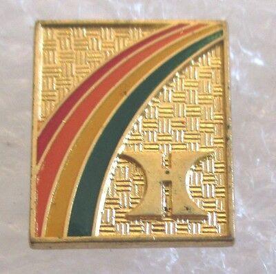 Vintage Hilton Hotel 70S Logo Rainbow Advertising Souvenir Pin