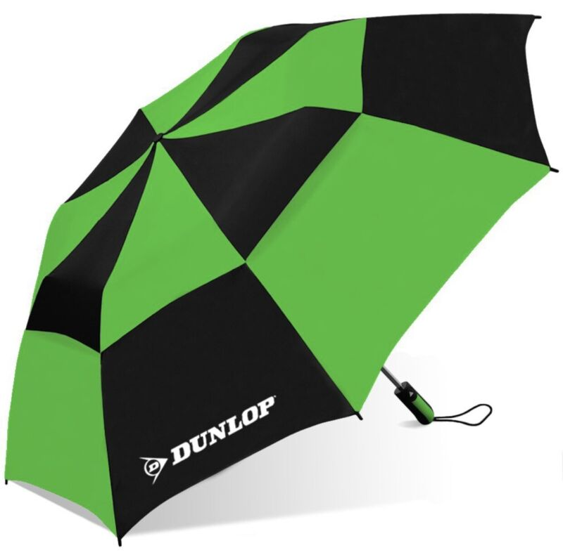 Dunlop Double Golf Canopy Two-Person Umbrella-56dc-dl Blkgry, Black/Green, 56 IN