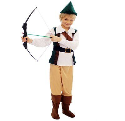 *CLEARANCE* Robin Hood Hunter Boys Fancy Dress Costume (Best Dressed)