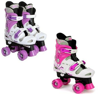 OSPREY GIRLS QUAD SKATES PADDED KIDS ROLLER BOOTS ADJUSTABLE SIZE:10-12,13-3,3-5