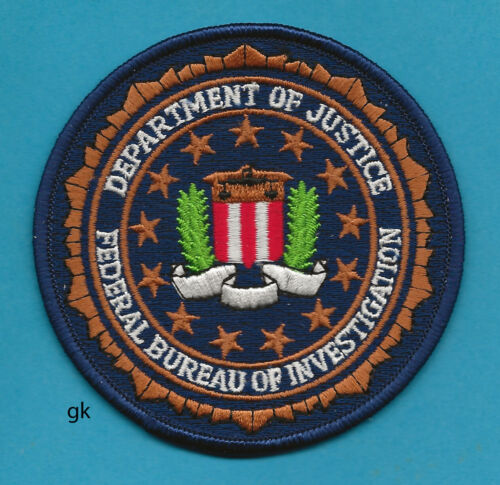 "FBI DEPARTMENT OF JUSTICE SEAL POLICE SHOULDER PATCH (3 1/2"")"