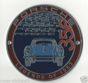 Porsche 356 Grill Badge Club Plakette Legends of 1963 ltd. Edition neu