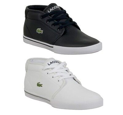 (New Lacoste Ampthill LCR Men's Leather Lace up casual Fashion Shoes Sneakers  )