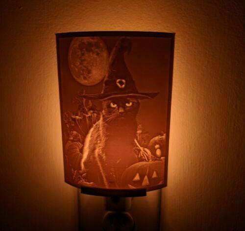 Black Cat Lithophane Incandescent Night Light