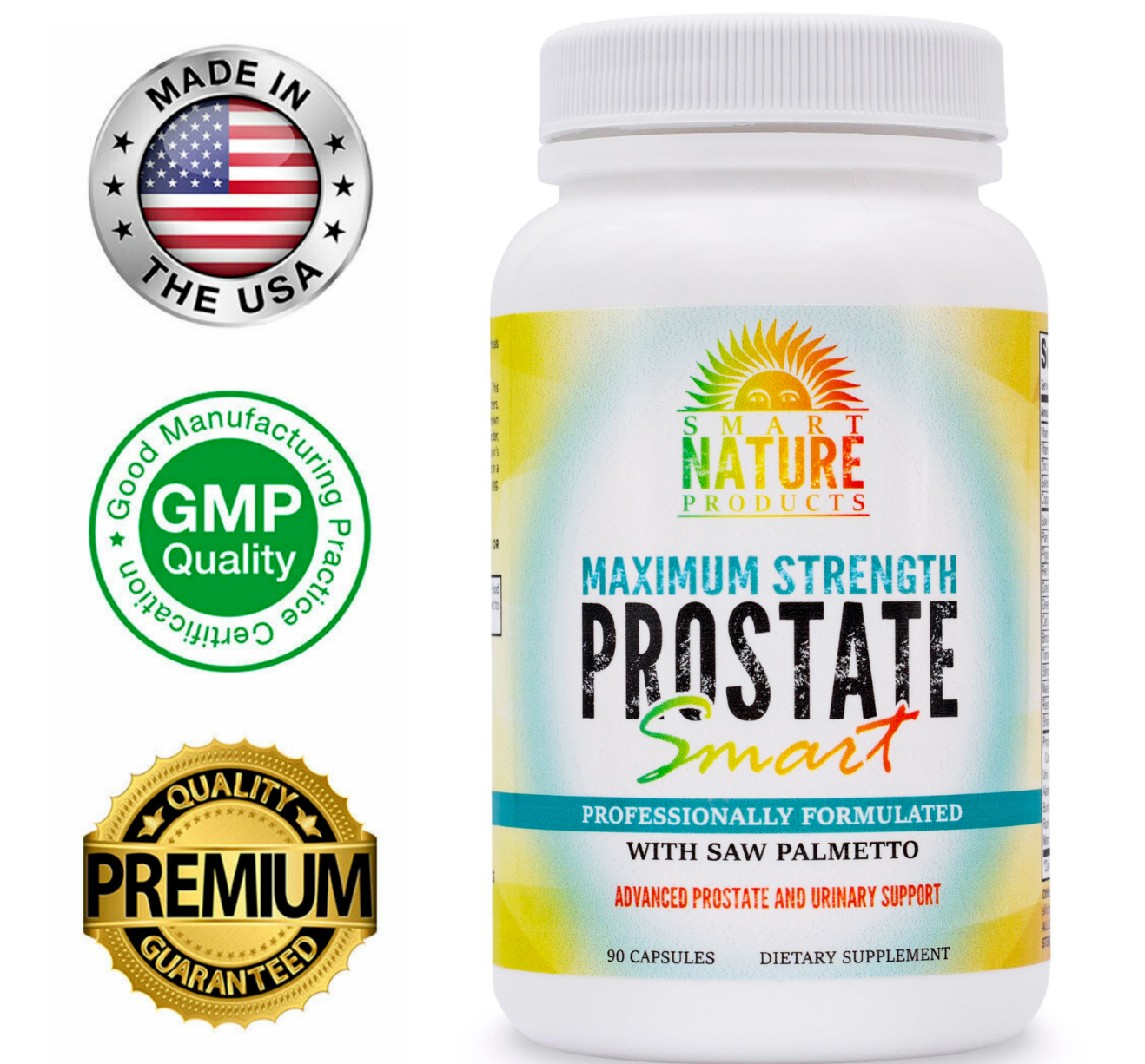 Super Smart Prostate Supplement Reduce Frequent Urges to Urinate w/FREE BOTTLE