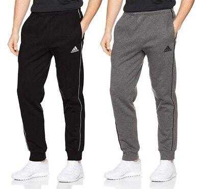 (Men's Adidas Core Joggers Tracksuit Jogging Bottoms Track Sweat Pants Grey Black)