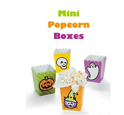 Halloween Popcorn Boxes School Party Snack Containers Cute Treat Boxes 12pc