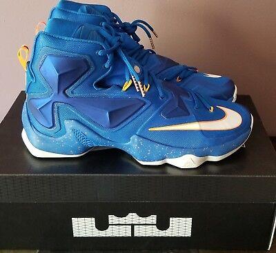 6830aa5e9026a Nike Lebron XIII Men s size 12 Soar Blue Orange 807219 418 New with box