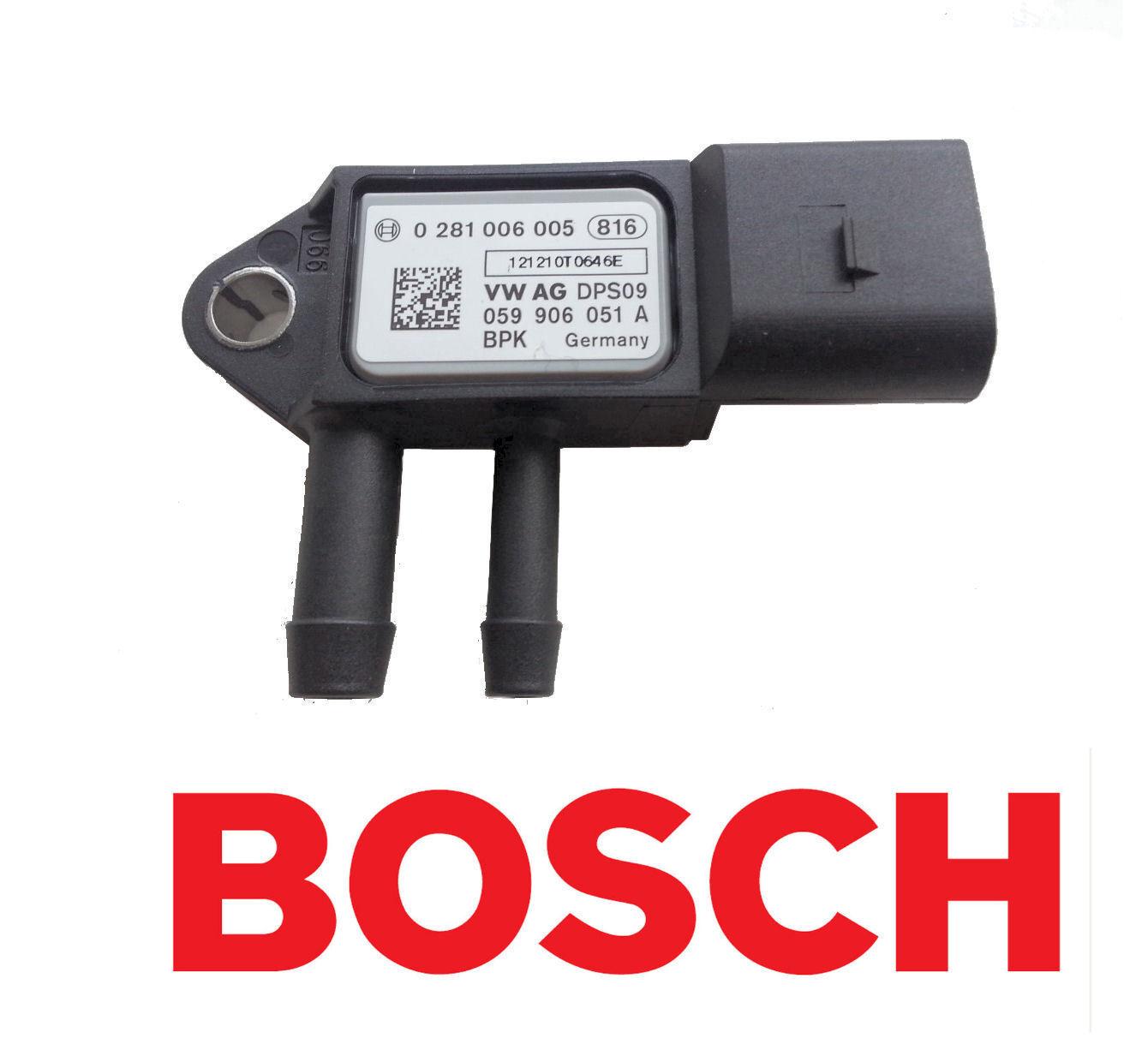 Altea Leon Exeo BOSCH Exhaust Pressure //DPF Sensor for Seat Alhambra Toledo
