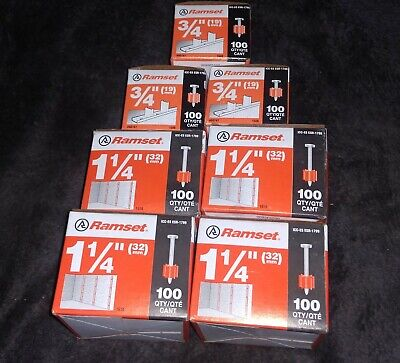 """LOT OF 5 BOXES OF RAMSET T3012 PINS 1//2/"""" 5 X 1000 = 5000 PINS PLEASE READ"""